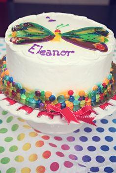 Beautiful Very Hungry Caterpillar cake #veryhungrycaterpillar #cake