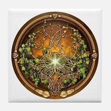 Sacred Celtic Trees - Vine Tile Coaster for