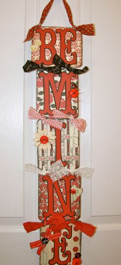 Valentine Swag Banner Garland/Be by Tweetfeathers on Etsy, $27.50