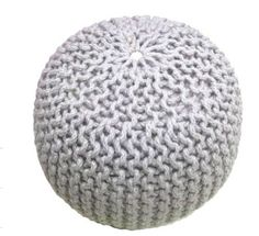 The Look for Less: Horchow Rope Poufs - The Budget Babe