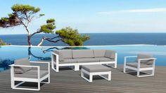 Salon de jardin aluminium Amapa - Mobilier Moss | Mobilier Moss ...