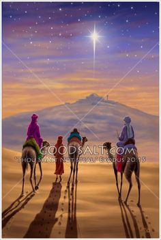 """""""Now when Jesus was born in Bethlehem of Judaea in the days of Herod the king, behold, there came wise men from the east to Jerusalem,"""" KJV Matthew 2:1  Three Wise Men K Artist Steve Bridger"""
