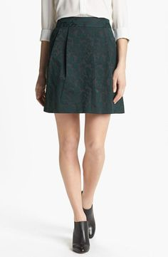 Love the print on this emerald skirt!