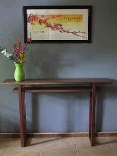 Long Narrow Shaped Console Table: Handmade, Solid Wood Table For Hallways/  Narrow Sofa Table  Artistic Craftsman Wood Furniture | Joinery, Joinery  Details ...
