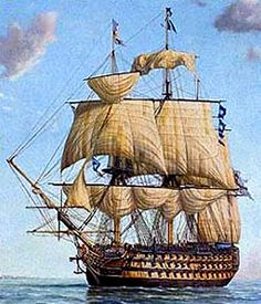 pic of ship, 1600's - Edward Saunders II 1595-1686, came from Devon, England in 1635 on the ship Safety.