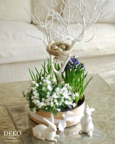 DIY: Blumendeko/Centerpiece für Ostern Deko Kitchen