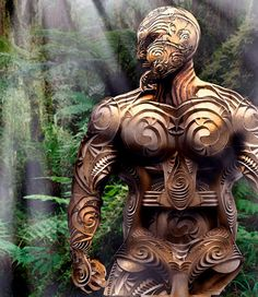 Tane the Maori god of the forest. Tane God of the forest. In progress Driftwood Sculpture, Sculpture Art, Sculpture Ideas, Maori Legends, Maori Symbols, Maori Patterns, Native Tattoos, Polynesian Art, Maori Designs
