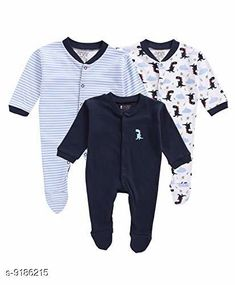 Oneseis & Rompers  Fancy 100% Cotton Kid's Rompers (Pack Of 3) Fabric: 100% Cotton Sleeves: Full Sleeves Are Included Size: Age Group (0 Months - 3 Months) - 10 in Age Group (3 Months - 6 Months) - 12 in Age Group (6 Months - 9 Months) - 12 in Age Group (9 Months - 12 Months) - 14 in Type: Stitched Description: It Has 3 Pieces Of Kid's Rompers Pattern & Work  :Solid & Striped & Printed Country of Origin: India Sizes Available: 0-3 Months, 3-6 Months, 6-9 Months, 9-12 Months, 12-18 Months   Catalog Rating: ★4.3 (4142)  Catalog Name: Doodle Fancy 100% Cotton Kid's Rompers Combo Vol 2 CatalogID_624895 C62-SC1159 Code: 665-9186215-6051