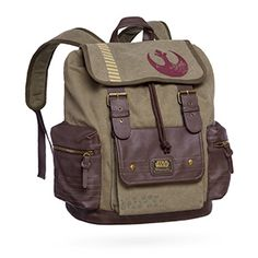 With adjustable and padded straps, this backpack features a flap with the Alliance Starbird stencil, which looks like it closes with buckles but actually closes with magnetic snaps. Because you always want to keep the Empire guessing.