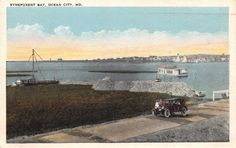 AU19 Ocean City Maryland, Synepuxent Bay, vintage postcard | eBay
