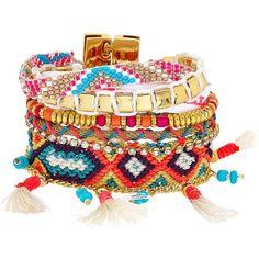 HIPANEMA Taj Bracelet ($128) ❤ liked on Polyvore featuring jewelry, bracelets, accessories, pulseras, pulseiras, multi, beading jewelry, beaded jewelry and bead jewellery