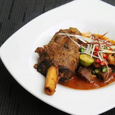 Mutton Vindaloo Curry with Lamb Shank and Goat Shank, Potato and Jackfruit.