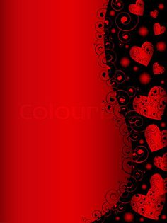 Decorated black & red