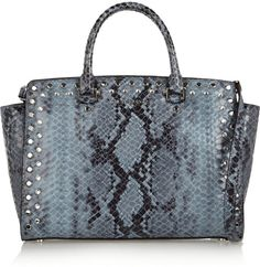 MICHAEL Michael Kors Embellished snake-effect leather tote on shopstyle.co.uk