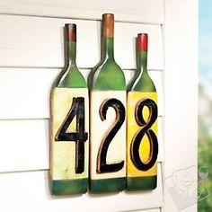 Números criativos. http://decoralavidafrida.blogspot.com.br/2014/11/numero-criativo.html