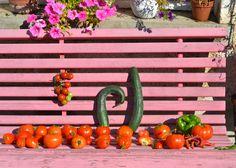 Gemüse und Gartenbank www.sonjarieser.ch Vegetables, Home And Garden, Vegetable Recipes, Veggies