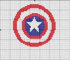 Geekie Crafts: Caprain America Cross Stitch