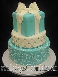 Tiffany Box Wedding Cake. I think my wedding cake should look like the middle white layer of the cake.