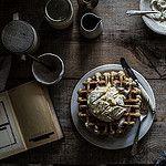 earl grey waffles + whipped honey cream by Beth Kirby | {local milk}