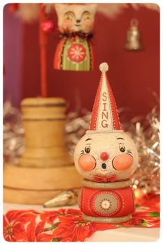 One of a kind winter delights by Johanna Parker at her 9th Annual Holiday Folk Art Show & Open House