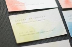 omg watercolor business cards!! so perfect