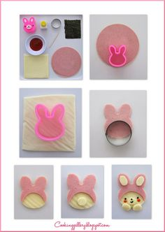 How to make a bear in a bunny suit by Cooking-Gallery... get cutter at @bentousa