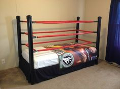 wrestling ring bed cant let the boys see thislol ideas for my kids pinterest boys ring and room. beautiful ideas. Home Design Ideas