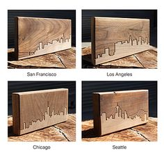 Look what I found at UncommonGoods: city skyline wooden routing... for $34 #uncommongoods