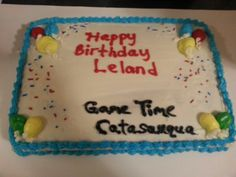 Party package cake and Game Time