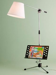 Microphone stand lamp for the music loving teen!
