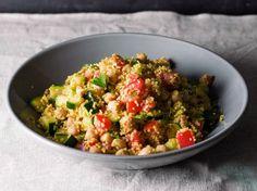 Couscous Salat mit Kichererbsen