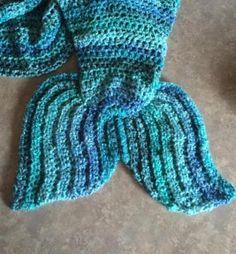 Girls Mermaid Tail Lapghan or Cocoon | Craftsy