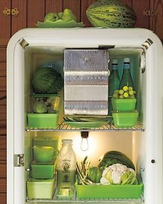 Before there was Tupperware, there was jadeite. Food storage containers were designed with flat lids for stacking and in shapes meant to fit in mid-20th-century refrigerators.  http://www.marthastewart.com/851601/marthas-jadeite-collection