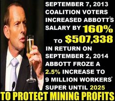 Australian Survival and Preppers..: Abbott Gets Increase In Salary !!!