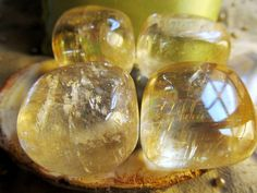 Golden Calcite Healing Crystal Stone Solar Plexus by OneWithGems