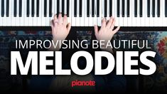 Improvising Beautiful Melodies On The Piano Piano Lessons, Music Lessons, Piano Sheet Music, Music Sheets, Easy Piano Songs, Blues Music, Pop Music, Piano Scales, Reggae Music