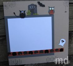 Halloween Fun Scrapbook Layout - right page of 2 page layout - punch art - owl punch - Stampin' Up!