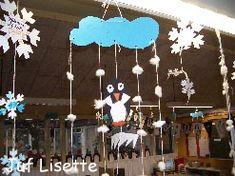 Pinguïn-mobile #knutselen #winter #kinderen