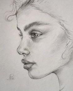 Pencil Portrait woman portrait drawing reference, using hatching technique Pencil Art Drawings, Realistic Drawings, Art Drawings Sketches, Drawing Faces, Anger Drawing, Face Pencil Drawing, Pencil Portrait Drawing, Drawing Portraits, Pencil Sketching
