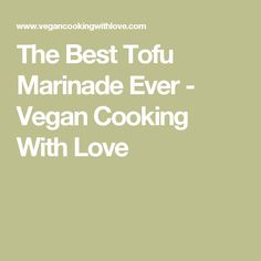 The Best Tofu Marina
