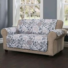Diy Sofa Cover, Sofa Cushion Covers, Chair Covers, Floral Sofa, Floral Furniture, Teal Quilt, Sofa Protector, Loveseat Slipcovers, Furniture Covers