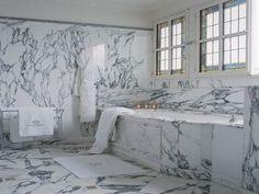 Bathroom Tiles New York statuary marble slab counter top and backsplash | bathrooms