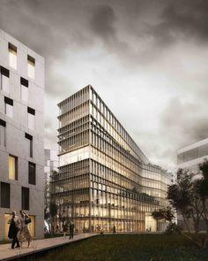 Gallery of Kaufman & Broad Office Building Winning Proposal / Studioninedots…