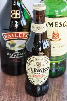 Irish Car Bomb Cupcakes :: Guinness chocolate cake, Jameson whiskey ganache filling, and Baileys buttercream frosting.