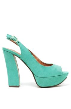 Peep Toe Platform in Jade $26.50