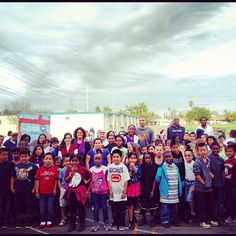 """""""Francisco Garcia, Travis Outlaw and John Salmons pose with students from Nicholas Elementary School at Kings Fitness Timeout!"""""""