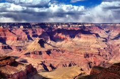 The Grand Canyon South Rim lies within the Grand Canyon National Park in Arizona, and offers easy access and stunning views of one of the Natural Wonders of the World.