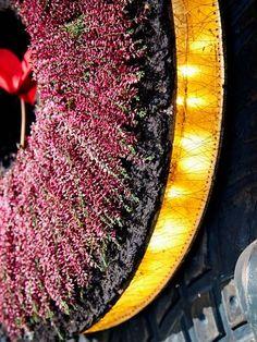 Detailansicht des beleuchteten Kranzes