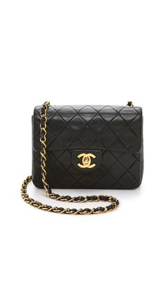 What Goes Around Comes Around Chanel Mini Flap Bag - Black Burberry Handbags, Chanel Handbags, Luxury Handbags, Designer Handbags, Burberry Bags, Luxury Purses, Designer Bags, Luxury Bags, Chanel Mini