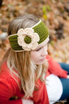 $3.49 Etsy pattern PDF Lily Headwrap/Headband and Flower CROCHET by SweetKiwiCrochet